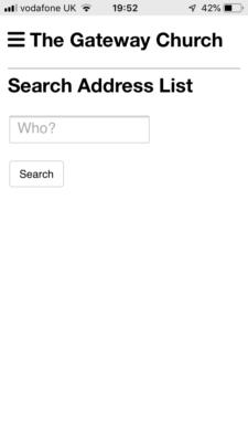 Address page